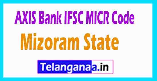 AXIS BANK IFSC MICR Code Mizoram State