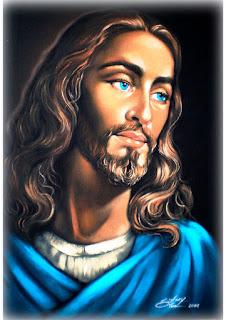 pintura de jesus em tecido