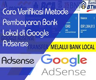 Cara Verifikasi Bank di Google Adsense