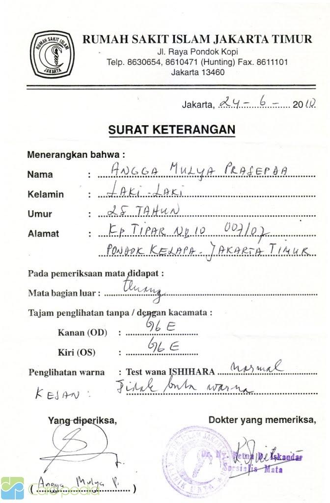 Contoh Surat Pernyataan Dokter Penanggung Jawab Klinik