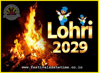 2029 Lohri Festival Date & Time, 2029 Lohri Calendar