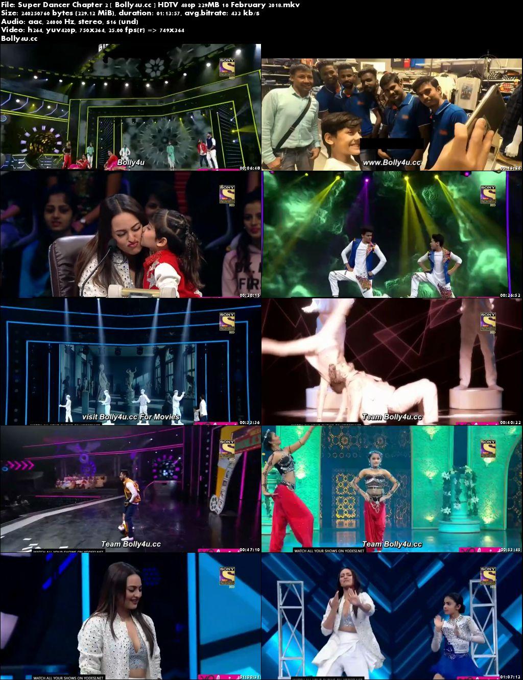 Super Dancer Chapter 2 HDTV 480p 200MB 10 February 2018 Download