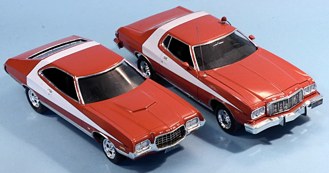 scale model news starsky and hutch striped tomato ford gran torino sport an alternative set. Black Bedroom Furniture Sets. Home Design Ideas