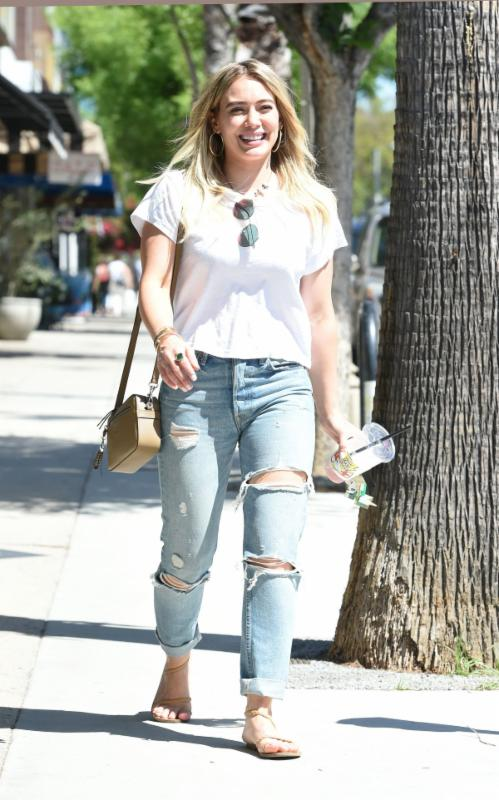 Hilary Duff Wears Henri Bendel