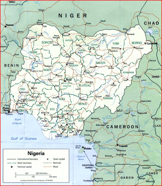 Gambar Peta politik Nigeria 1993