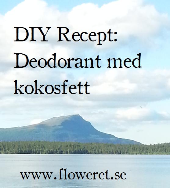 Gör egen ekologisk deodorant med kokosfett
