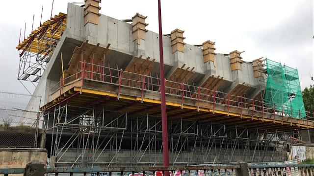 Obra de construcción de la tribuna de la ciudad deportiva de San Vicente