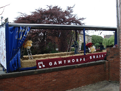 Gawthorpe Brass band float in the Mayday parade