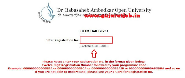 How to generate or get hall ticket