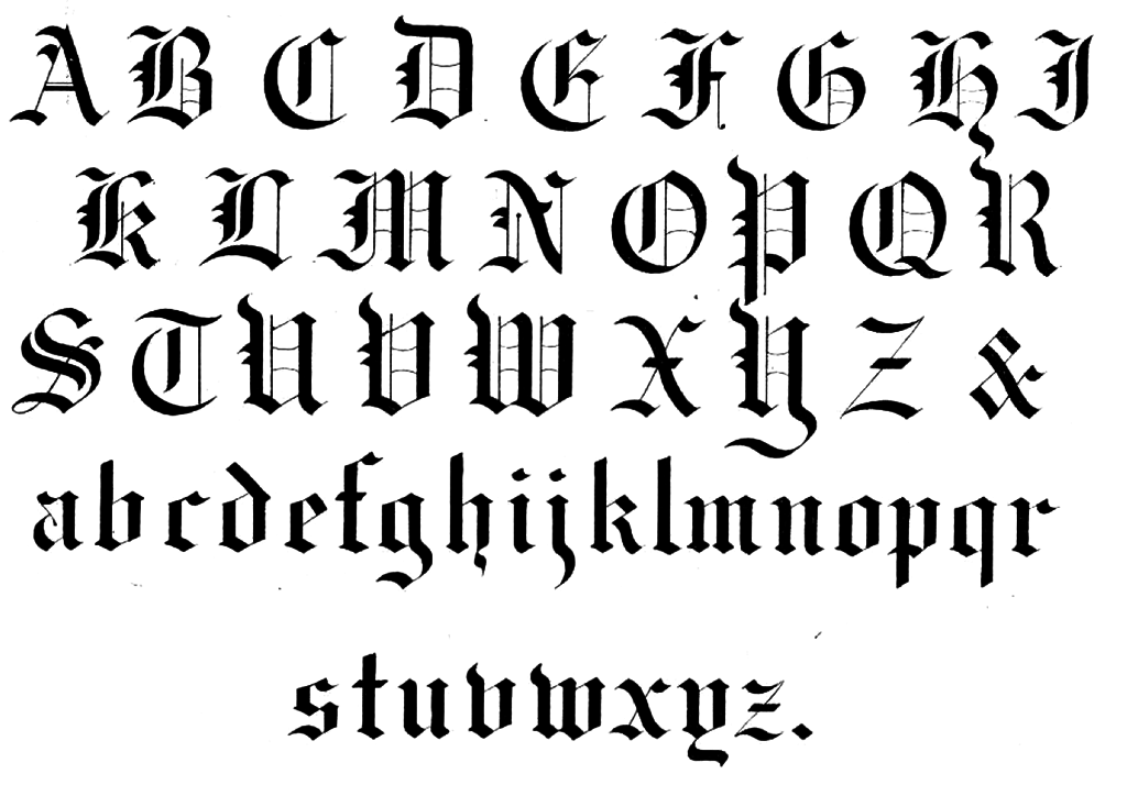 Calligraphy Fonts: Commonly Used Calligraphy Fonts