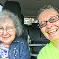 My Aunt and me in the car