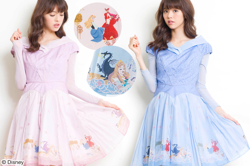 Vestido Princesas Disney Aurora slepping beauty Secret Honey