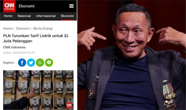 PLN Turunkan Tarif Listrik untuk 21 Juta Pelanggan, JS Prabowo: Tanda-tanda