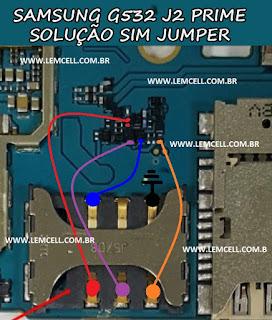 Solução Samsung G532 J2 Prime Solução de Sim Jumper  Samsung G532 J2 Prime Sim Solution