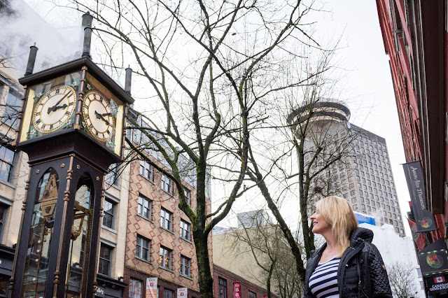 Gastown, VancouverBC, steamclock, harborcentre, travelguide,