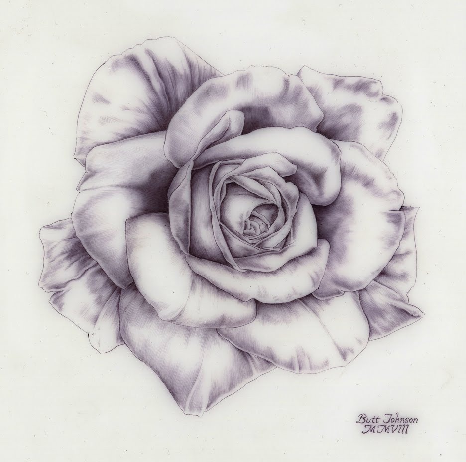 Rose Drawing ~ 3D Drawing