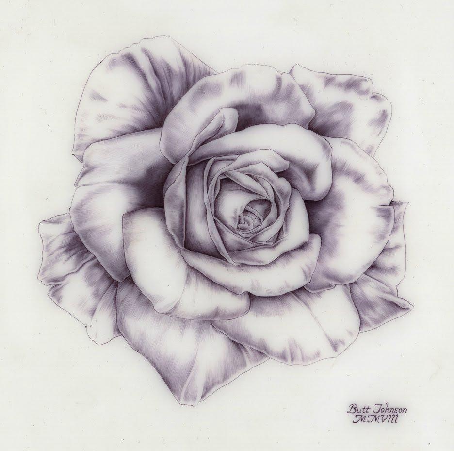 Rose Drawing ~ 3D Drawing