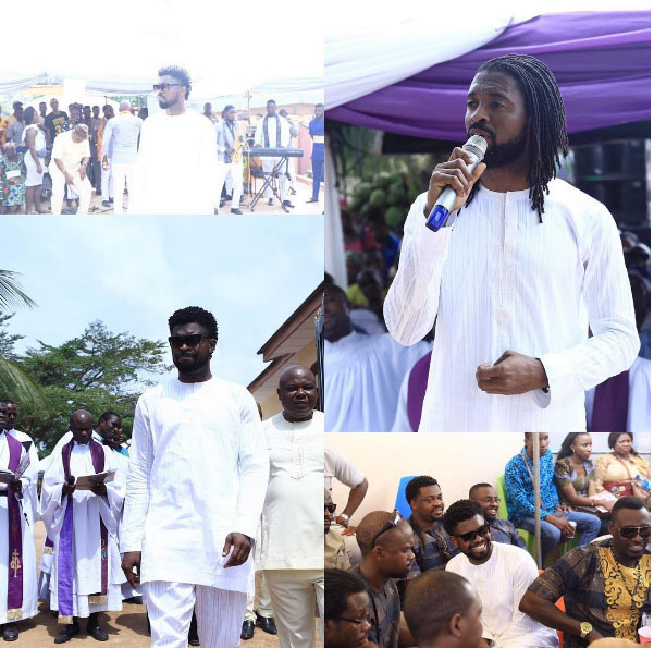 Photos: Basketmouth buries mum in Abia State