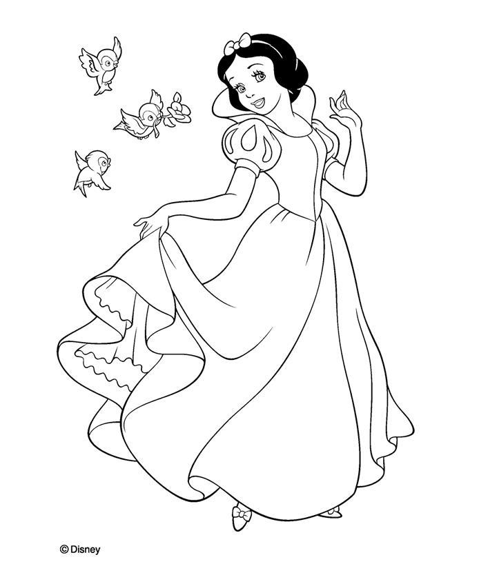 Desenhos Para Pintar Branca De Neve