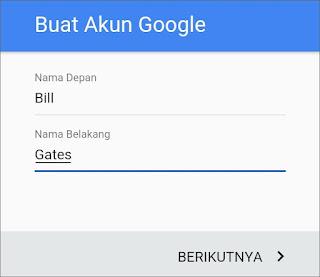 Cara Membuat Email Gmail di Android 6