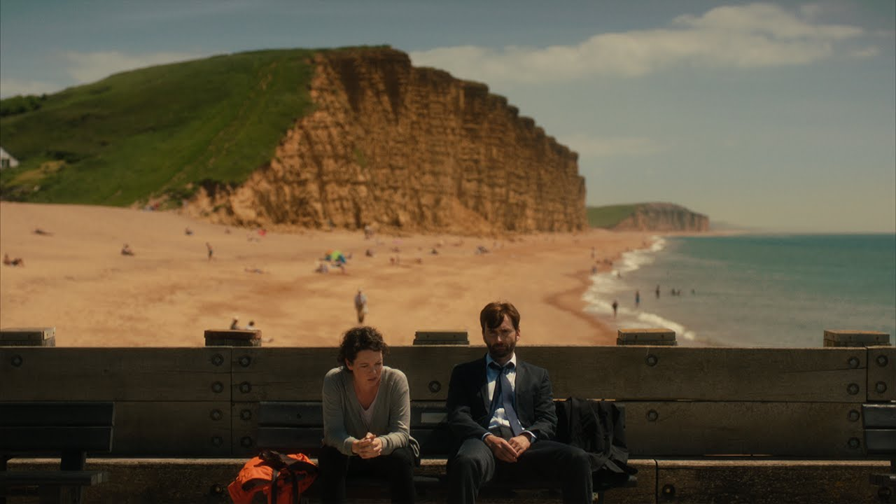 David Tennant y Olivia Colman en un episodio de 'Broadchurch'