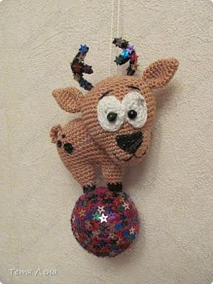 Амигуруми олень новогодняя игрушка крючком
