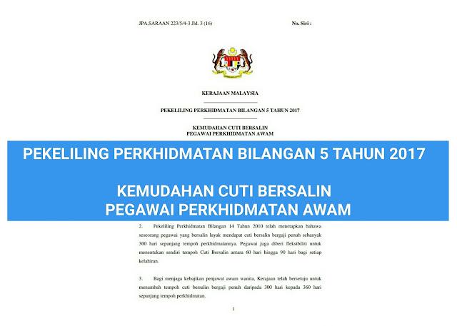 Pekeliling Cuti Bersalin Terkini Khas Untuk Guru Tahun 2018 Berita Malay Hari Ini