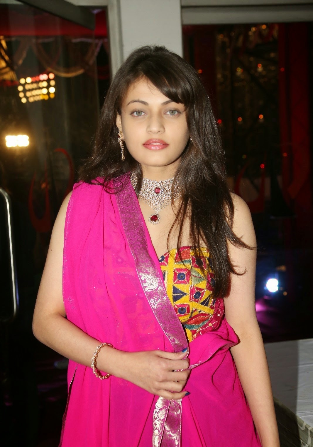 Actress Sneha Ullal Latest Cute Hot Spicy Photos Gallery At TSR Grandson Rajiv Marriage