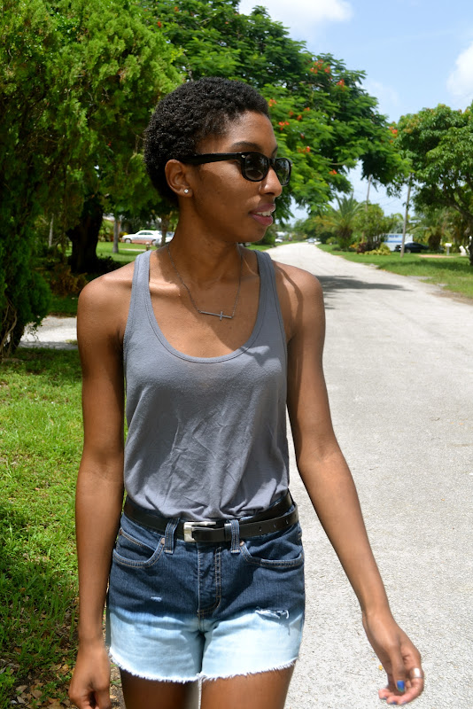 OOTD | Ombre Shorts