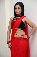 Aasma Syed in Red Saree Sleeveless Black Choli Spicy Pics ~  Exclusive Celebrities Galleries 025.jpg