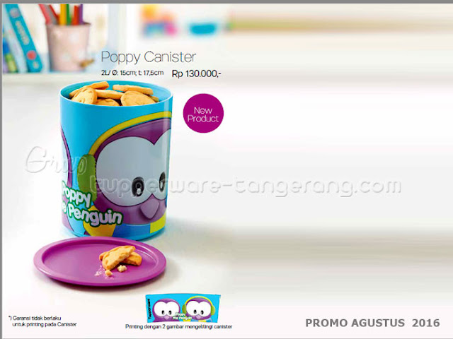 Poppy Canister Promo Agustus 2016