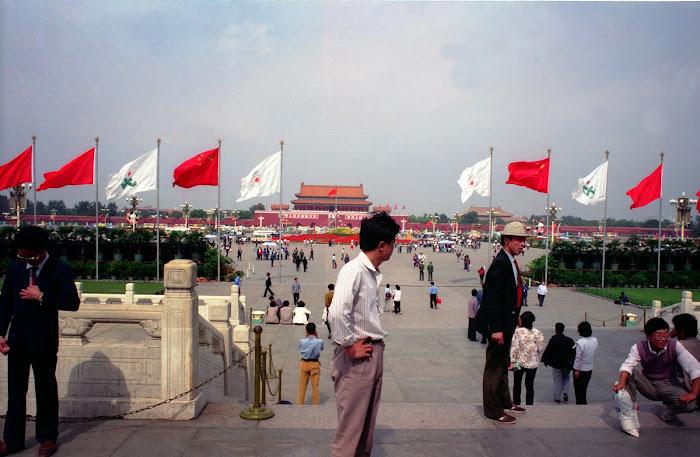 Pékin, Beijing, Tian Anmen, © L. Gigout, 1990