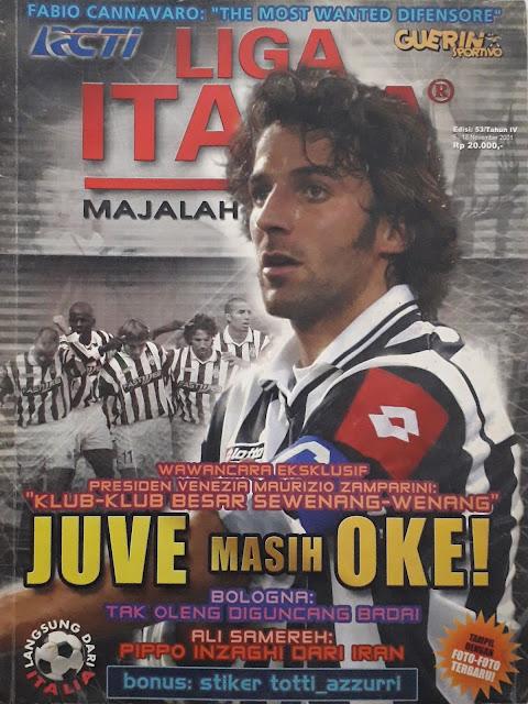 ALESSANDRO DEL PIERO MAGAZINE COVER