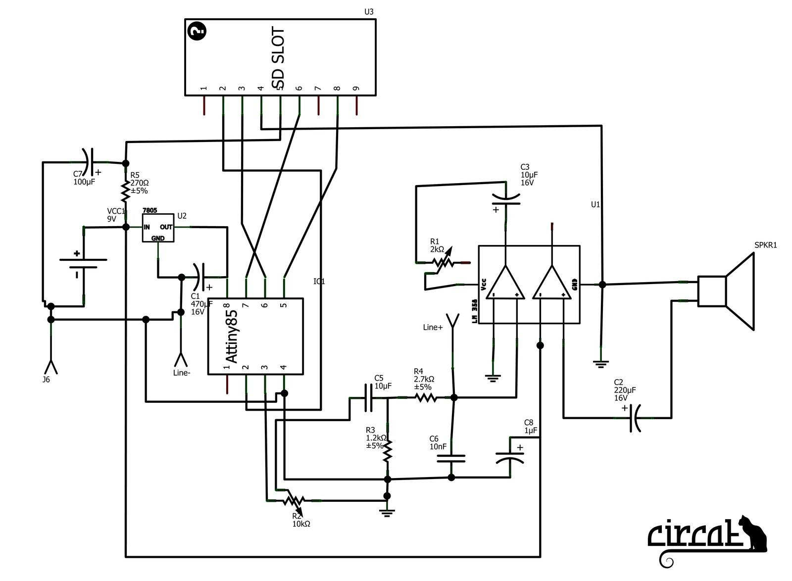 potentiometer pinout schematic
