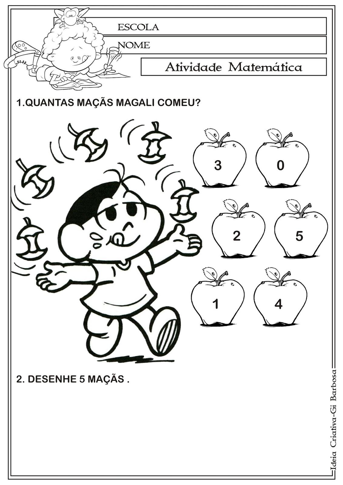 Matematica Infantil Atividade Matematica
