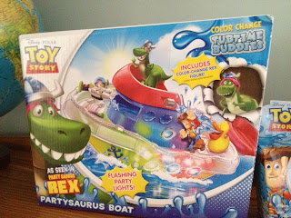 toy story partysaurus rex tubtime boat playset