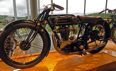 Motorcycle on display in museum.