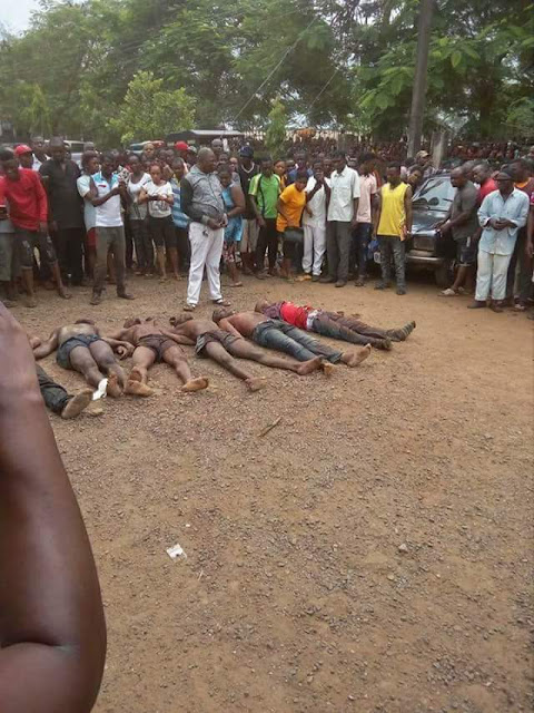 Graphic photos: SARS kill six kidnappers in Cross River State, rescue female victim