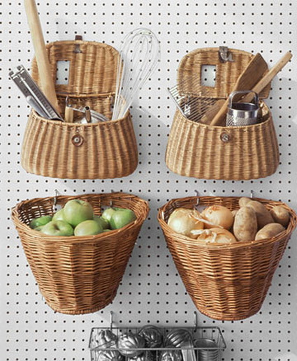 Ideas for decorating with wicker baskets 3