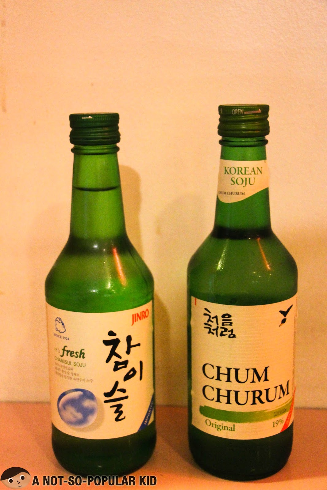 Korean Soju and Chum Churum in Genji-M