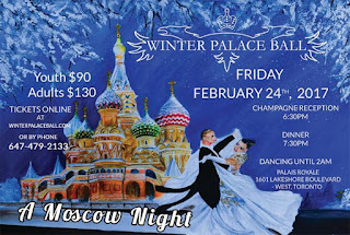 Winter Palace Ball 2017 - Moscow Night  February 24 at Toronto's Palais Royale