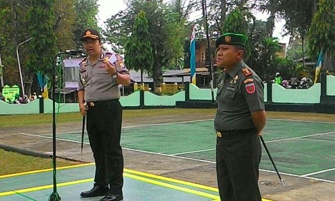 Jaga Sinergitas, TNI dan Polri di Soppeng Gelar Apel Bersama
