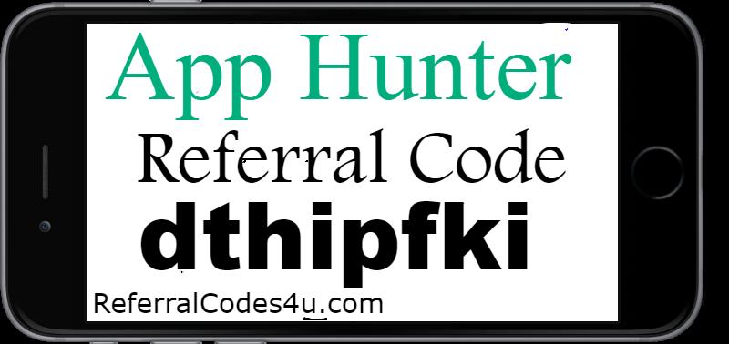 AppHunter Invite Code 2018 Enter App Hunter Referral Code dthipfki