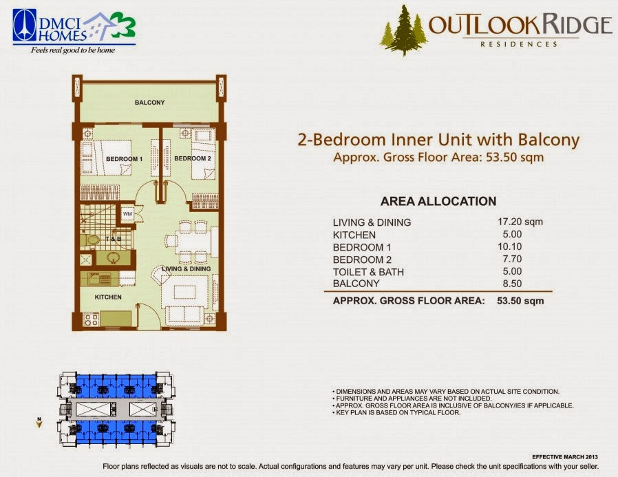 Outlook Ridge Residences 2-BEDROOM UNIT - 53.50 SQM
