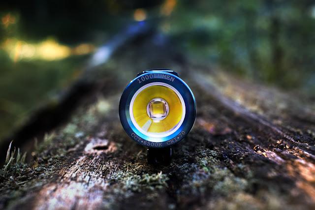 Przód latarki Olight S1R BatonII z widoczną diodą Cree XM-L2 U4