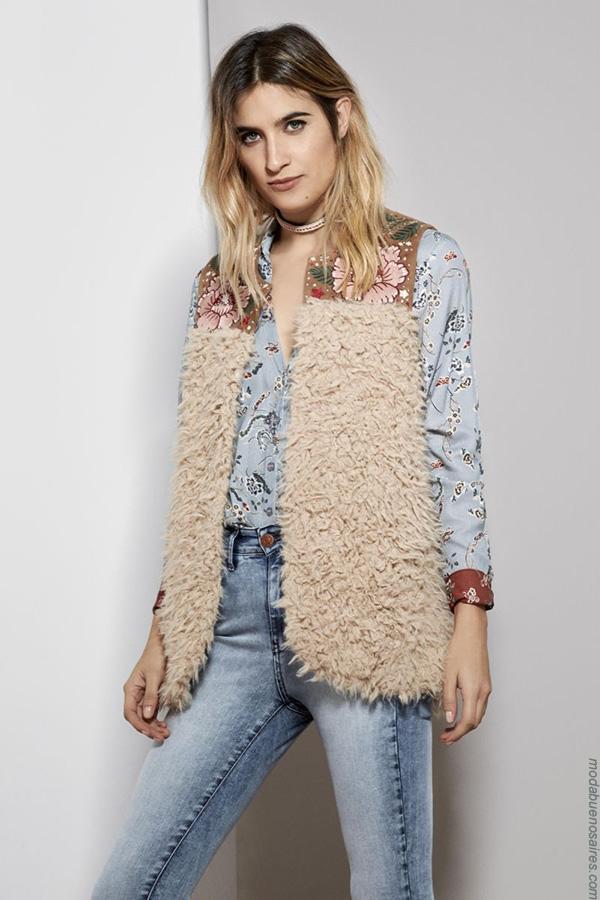 Chalecos invierno 2017 moda mujer. Moda 2017 invierno.