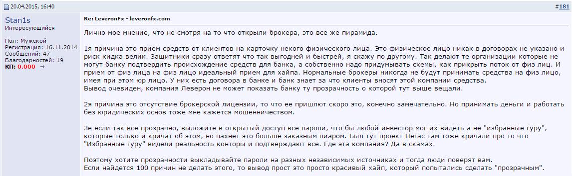 LeveronFX отзыв