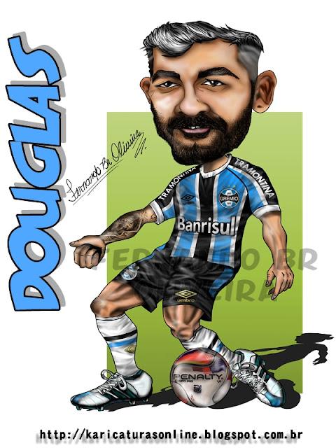 Caricatura Douglas Grêmio 2016