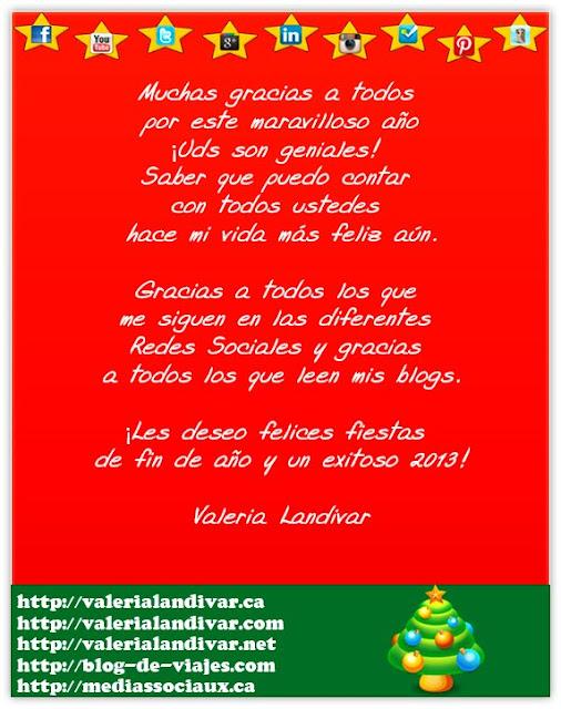 ¡Les deseo felices fiestas de fin de año y un exitoso 2013!