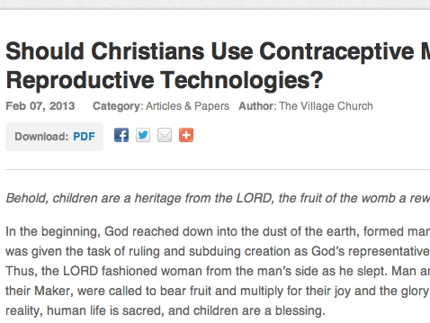 should Christians use birth control? my story.